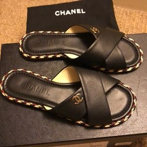 NWT Chanel slide sandals